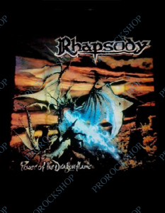 nášivka na záda, zádovka Rhapsody - Power of the Dragonflame