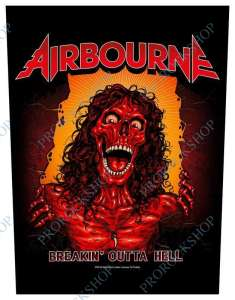 nášivka na záda Airbourne - Breakin Out Of Hell