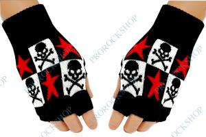 pletené rukavice bez prstů lebky s hnáty d870491375