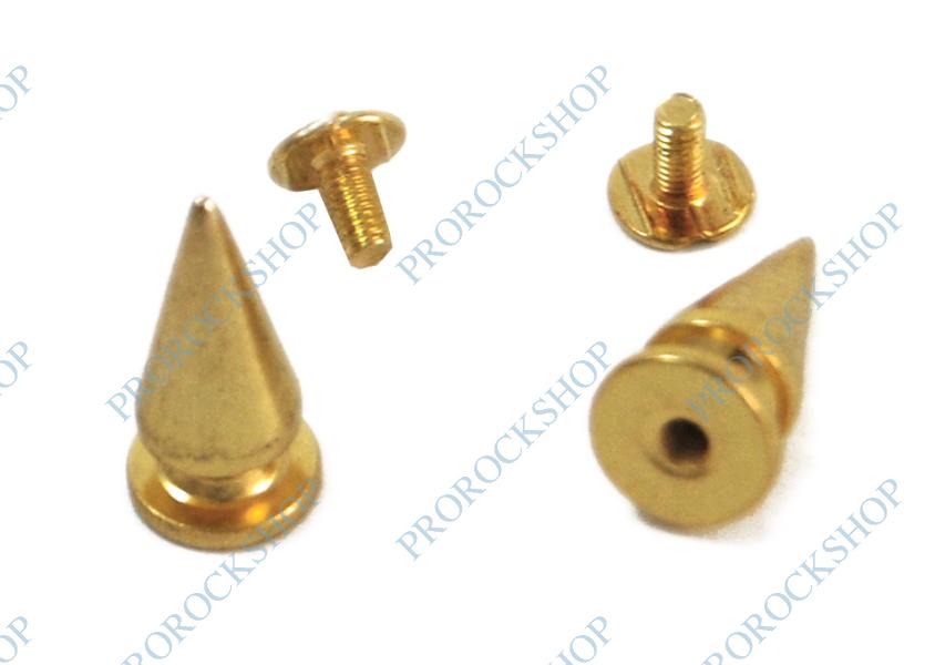 ozdoby zlaté hroty - 100 kusů - ProRockShop 1d715911fb