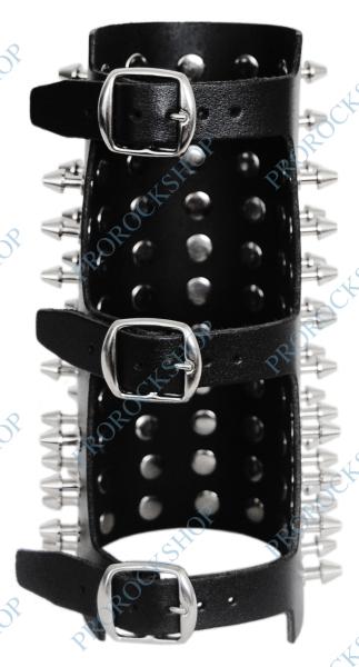 stahovák na zápěstí s hroty s plochou špičkou 11 řad - ProRockShop 3ab54215e2