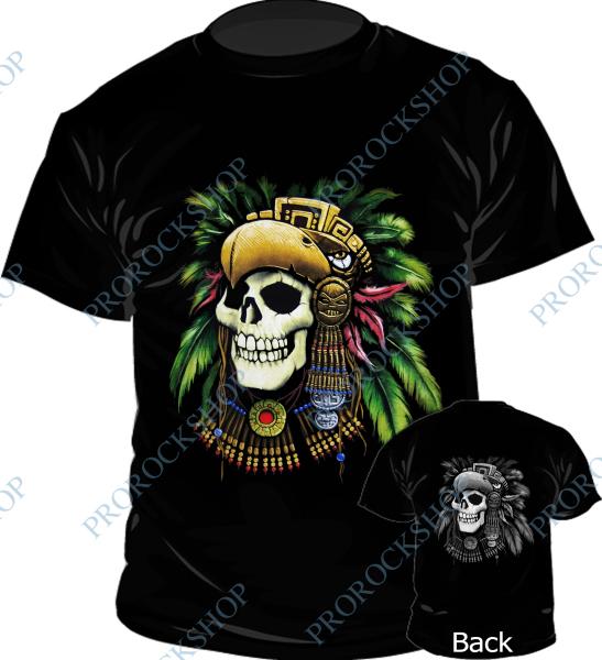 triko Lebka - Aztec Skull - ProRockShop e89d4efb1a