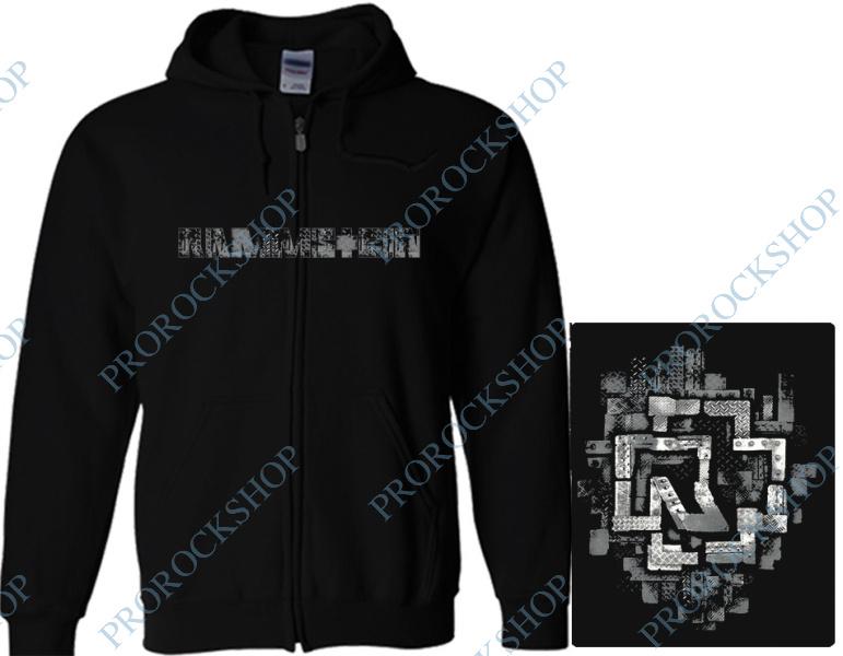 mikina s kapucí a zipem Rammstein - Logo II - ProRockShop 2c74a127d54