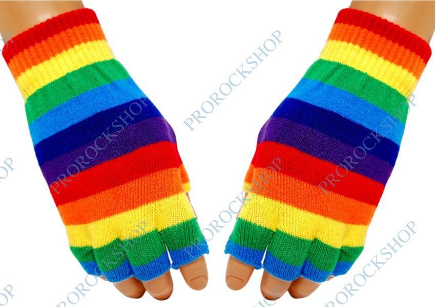 pletené rukavice bez prstů Peace - ProRockShop 361baecfb6