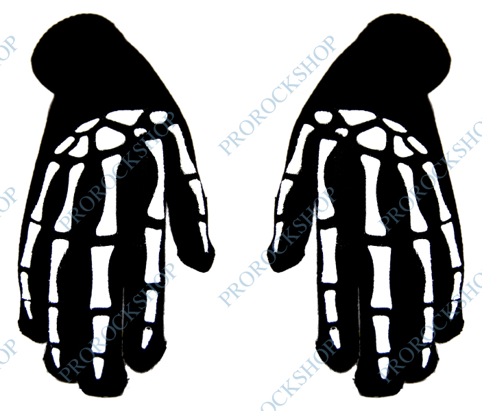 pletené rukavice skeleton - ProRockShop f16fc81eab