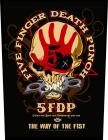 nášivka na záda Five Finger Death Punch - Way Of The Fist