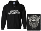 mikina s kapucí a zipem Amon Amarth - skull and axes
