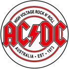 placka, button AC/DC - High Voltage Rock And Roll